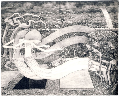 O Grave where is Thy Victory (tekening) – Jan Toorop, 1892
